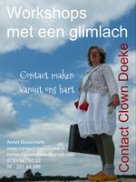 Contactclown Doeke clown in de zorg zorgclown belevingsclown workshops