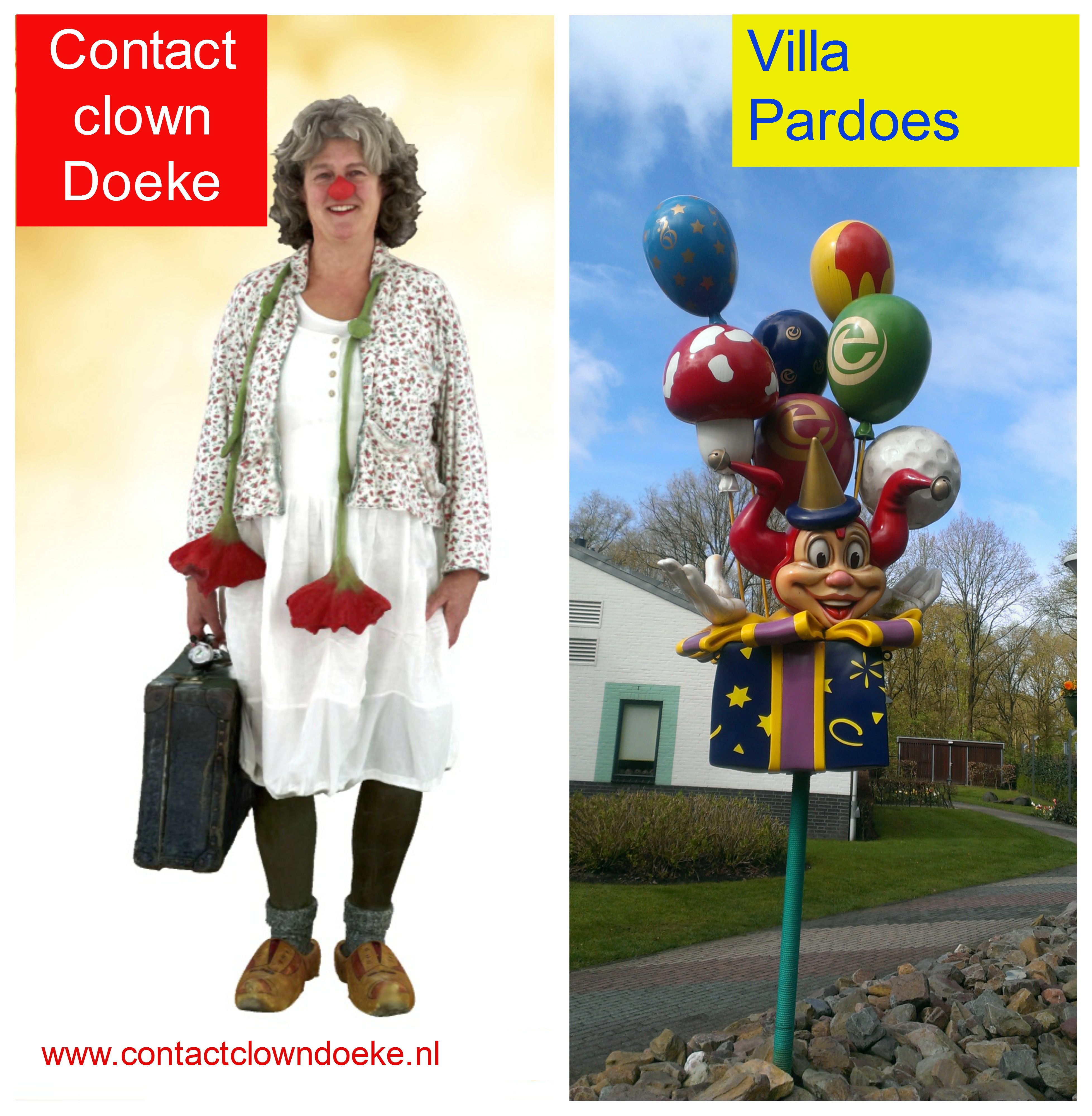 Contactclown Doeke - Clown in de zorg - Villa Pardoes